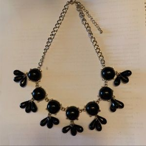 Jewelry - Glossy Black Dangly Statement Necklace